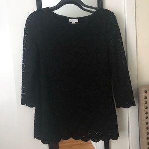 Charter Club Lace Black Top